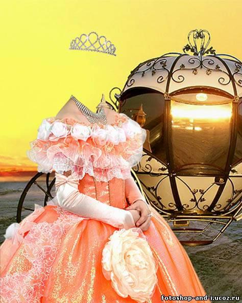 Шаблон для фотошоп – принцесса бала